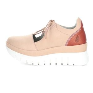 FLY LONDON Bump Fly Nude Pink Platform Sneakers 42